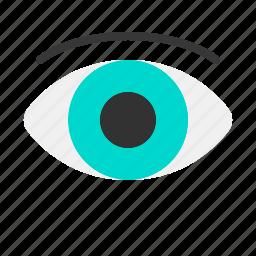 eye, health, hospital, medical, medicine, sight icon