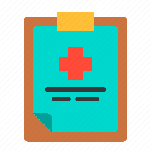 clipboard, diagnosis, health, hospital, medical, patient, treatment icon