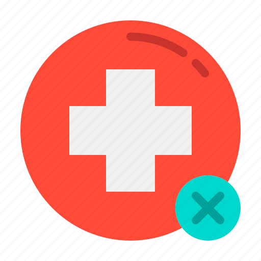 cancel, health, hospital, medical, medicine, wrong icon