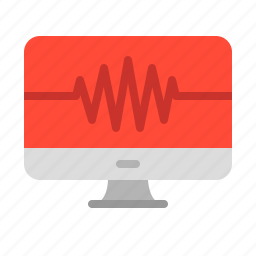 beat, computer, health, heart, heartbeat, medical, monitoring icon
