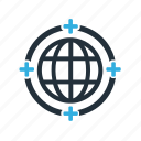 global, medical, service icon