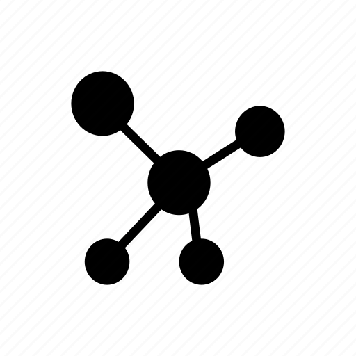 atoms, bonding, cells, molecules, structure icon
