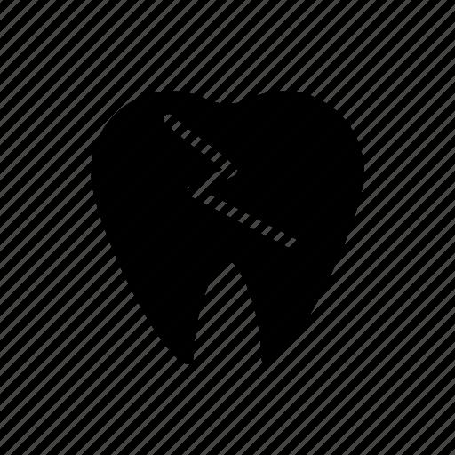 damage, dental, healthcare, oral, teeth icon