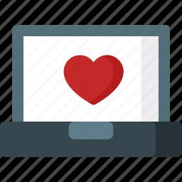 cardiogram, favourite, heart, like, love, romance, romantic icon