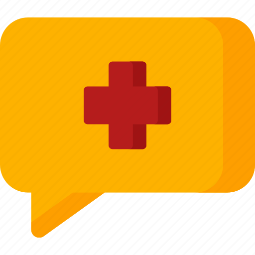 bubble, chat, clinic, healthcare, hospital, plus, talk icon