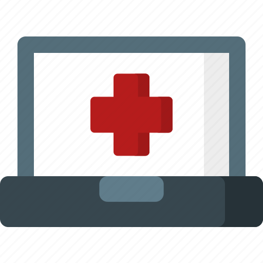 computer, device, display, health, hospital, laptop, medicine icon