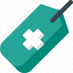 care, health, hospital, medical, medicine, tag, treatment icon
