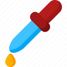 chemistry, dropper, experiment, eyedropper, science, test, tube icon