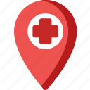 doctor, health, healthcare, hospital, location, map, medical icon