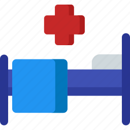 bed, clinic, emergency, health, healthcare, hospital, treatment icon