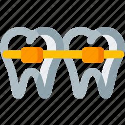 braces, dental, dentist, dentistry, health, teeth, tooth icon