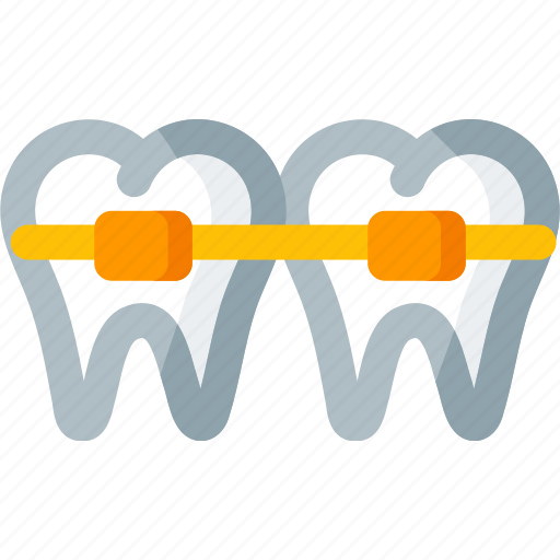 braces, dental, dentist, dentistry, health, teeth, tooth icon