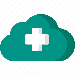 cloud, data, health, healthcare, hospital, medical, storage icon