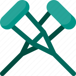 accounting, crutches, disable, help, patient, supplies icon