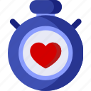 clock, health, heart, medical, medicine, time, watch icon