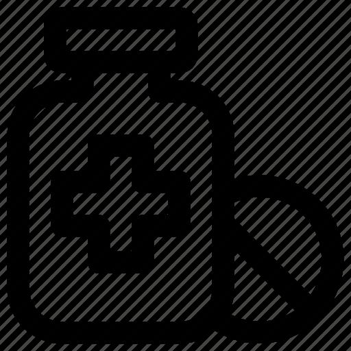 bottle, health, healthcare, medical, medicine, pharmacy, pills icon