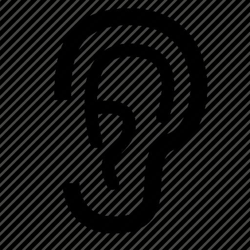 Ear, earlobe, hear, hearing, human, listen icon - Download on Iconfinder