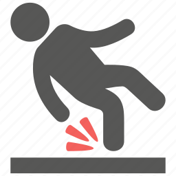 accident, fall, fall down, insurance, safety, slip, tumble icon