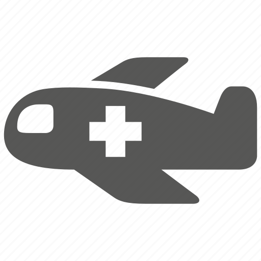 air, flight, fly, hospital, medical, plane, service icon