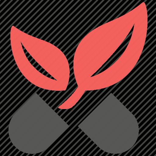 alternative, capsule, health, healthy, leaf, medical, medicine icon