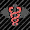 caduceus, doctor, health, healthcare, medical, medicine, snake icon