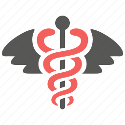 caduceus, doctor, health, healthcare, medical, medicine, snake icon