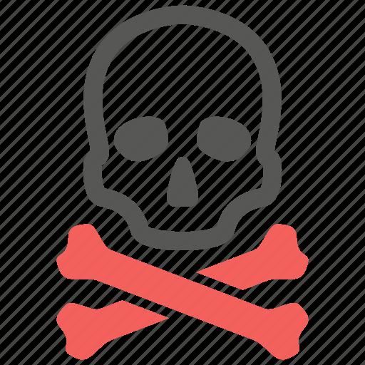 bones, caution, crossbones, danger, death, skull, warning icon