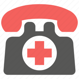 call, communication, doctor, emergency, medical, phone, telephone icon