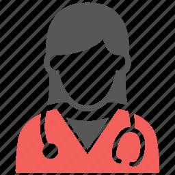 doctor, female, healthcare, hospital, medical, nurse, woman icon