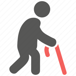 elder, geriatrics, gerontology, man, old, patient, walking frame icon