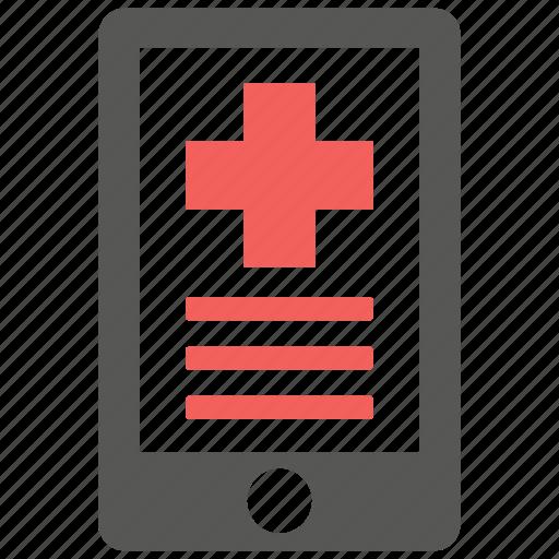 health, hospital, info, internet, medical, mobile, phone icon