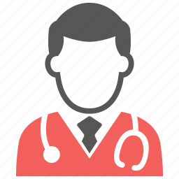 doctor, hospital, male, medical, physician, stethoscope, user icon