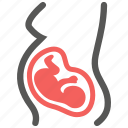 embryo, fetus, mother, obstetrics, pregnancy, pregnant, woman icon