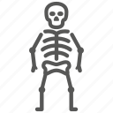 bones, danger, death, halloween, osteology, skeleton, skull icon