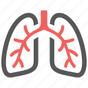 anatomy, body, breath, breathe, lungs, organ, pulmonology icon