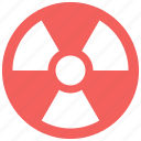 alert, danger, nuclear, radiation, radioactive, sign, warning icon