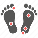 foot, massage, pain, pressure, reflexology, therapy, treatment icon