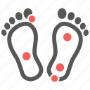 feet, massage, pressure, reflexology, thai massage, therapy, treatment icon