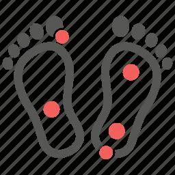 feet, massage, pressure, reflexology, thai massage, therapy, treatment icon