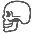 alert, danger, death, halloween, scary, skeleton, skull icon