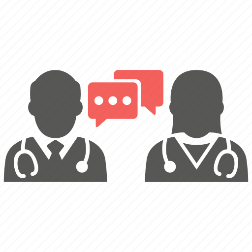 communication, conversation, doctor, message, nurse, specialized, talk icon