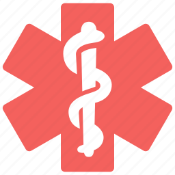 health, hospital, medical, pharmacy, snake, star, star of life icon
