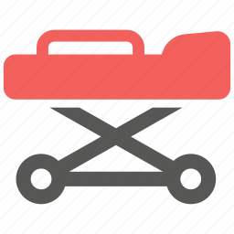 ambulance, bed, emergency, hospital, medical, patient, stretcher icon