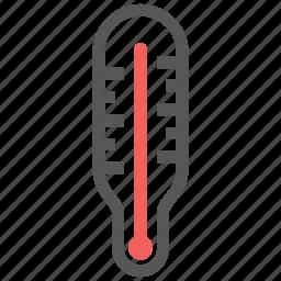 celcius, fahrenheit, forecast, hot, temperature, thermometer, weather icon