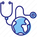 global health, healthcare, medical, stethoscope icon