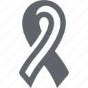 awareness ribbon, breast cancer, health, ribbon icon