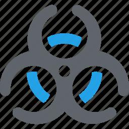 biohazards, biological hazard, danger, health risk icon