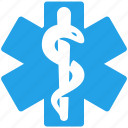 emergency, healthcare, medical, star of life icon
