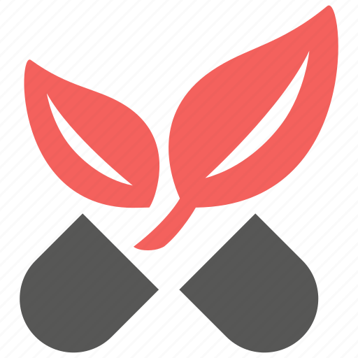 alternative, leaf, medication, medicine, nature, pharmacy, pill icon