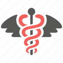 caduceus, health, healthcare, hospital, medical, pharmacy, snake icon